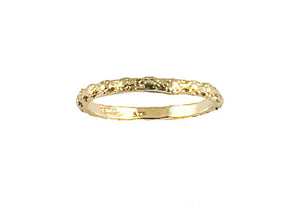 Gold Plated Sterling Silver Stackable Ring
