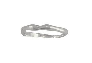 Wave Design Stackable Sterling Silver Band