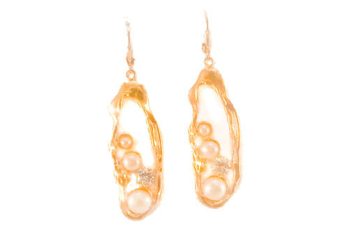 Pearls The Thing Gold Plated Sterling Silver Earring
