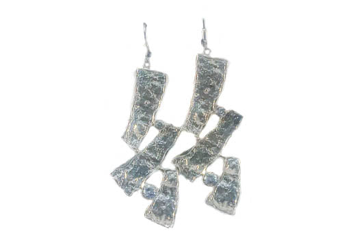 Sterling Silver Statement Earrings with Cubic Zirconia