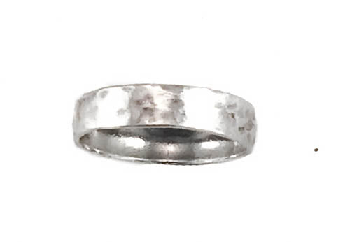 Sterling Silver Stackable Hammered Band