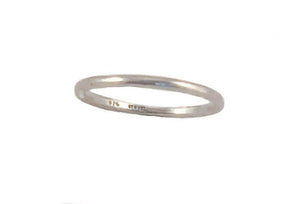 Smooth Sterling Silver Stackable Ring