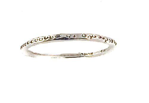 Textured Sterling Silver Stackable Band