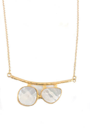 Mother of Pearl Gold Plated Necklace