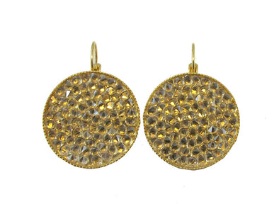 Swarovski Crystal Rock Earrings- Golden Shadow