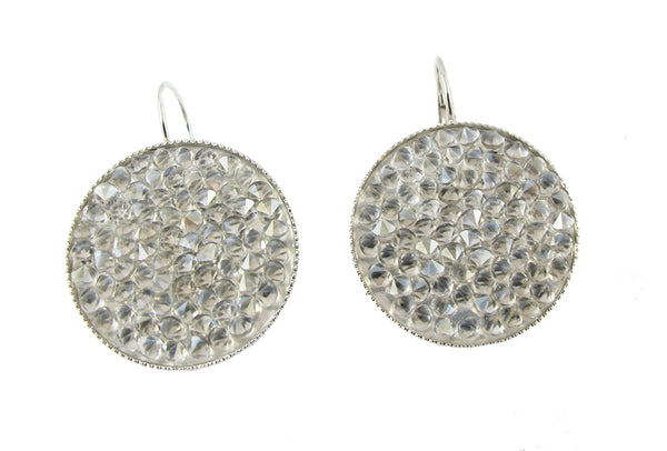 Swarovski Crystal Rock Earrings-Clear