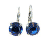 Saphire blue swarovski crystal earrings
