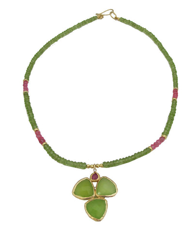Green's A Charm Necklace