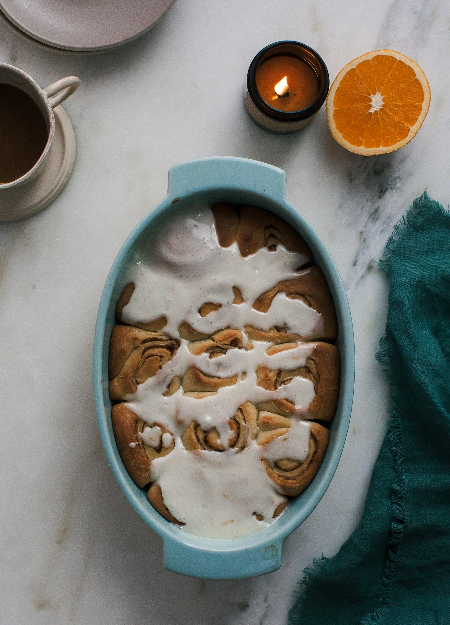 SCENT-INSPIRED RECIPES: ORANGE CARDAMOM ROLLS BY A COZY KITCHEN