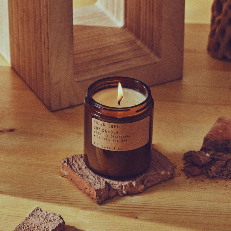 P.F. Candle Co. limited edition Copal scented soy wax candle
