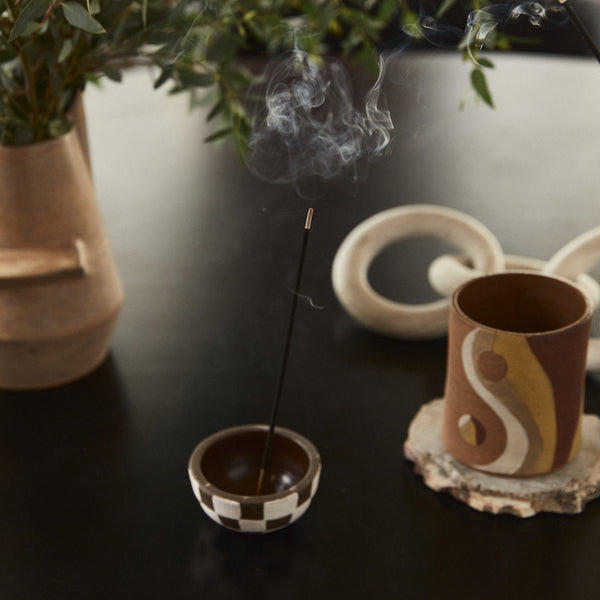 P.F. Candle Co. classic line Pinon scented incense sticks with scent notes of piñon logs, cedar, and vanilla