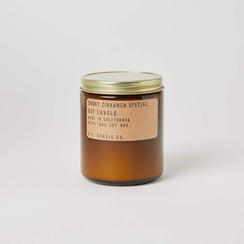 P.F. Candle Co. Smoky Cinnamon Special fall scented soy wax candle