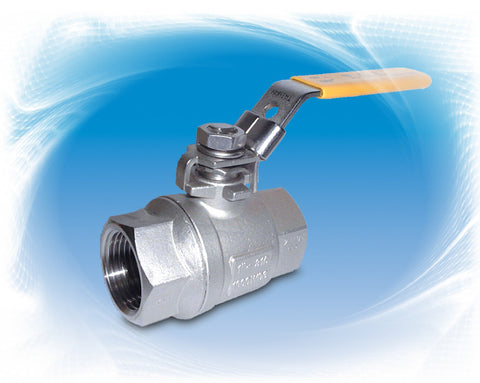 "1.500"" (1-1/2"") 1000# Threaded 2 Piece Full Port Ball Valve 316"