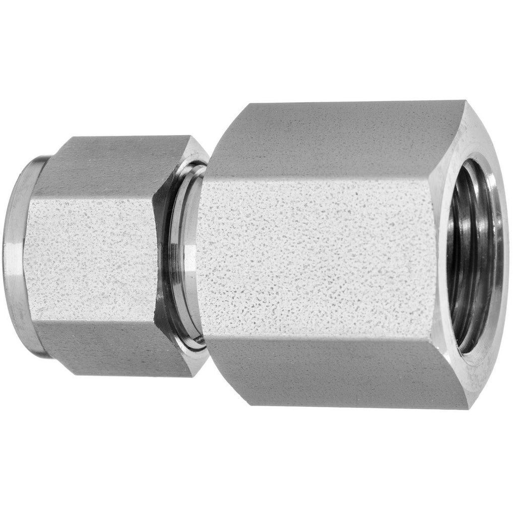".250"" (1/4"") x .250"" (1/4"") Female Connector 316 - Ace Stainless Supply"
