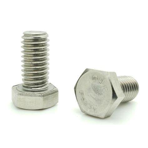 ".500"" (1/2"") x 1.000"" (1"") Hex Head Cap Screw 18-8 (304) Stainless Steel - Ace Stainless Supply"