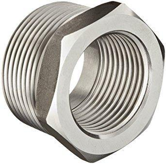 "1.500"" x 1.000"" (1-1/2"" x 1"") 3000# Hex Bushing 304 Stainless Steel"