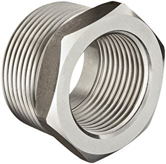 "1-1/2"" x 1/2"" 150# Hex Bushing 304 Stainless"