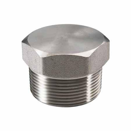 ".375"" (3/8"") 150# Plug Hex Head 304 Stainless Steel"