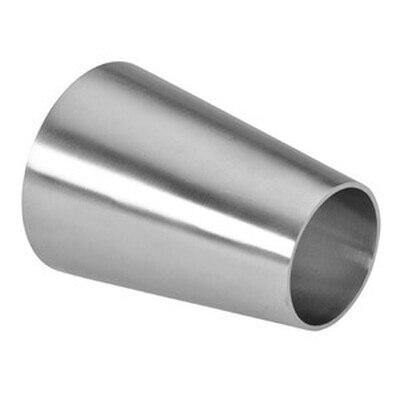 "4.000"" x 2.500"" (4"" x 2-1/2"") Concentric Reducer Sanitary Butt Weld Tube Size 304 Stainless Steel - Ace Stainless Supply"