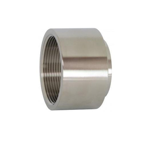 "2.500"" (2-1/2"") Female Adapter Sanitary Butt Weld Tube Size 316L Stainless Steel - Ace Stainless Supply"