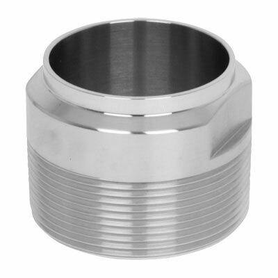 "2.000"" (2"") Male Adapter Sanitary Butt Weld Tube Size 316L Stainless Steel - Ace Stainless Supply"