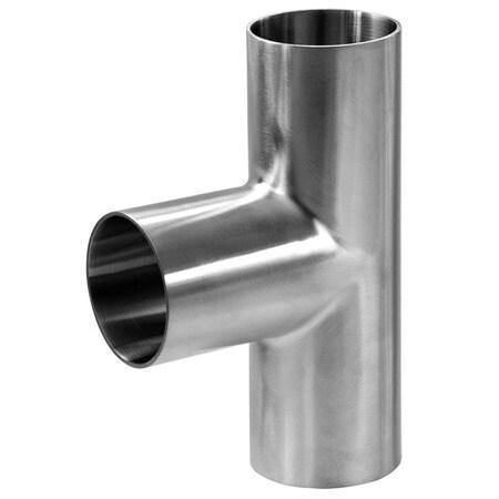 "2.000"" (2"") Tee Sanitary Butt Weld Tube size 304 Stainless Steel - Ace Stainless Supply"