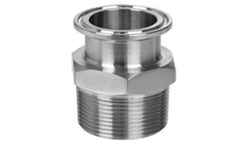 "2.000"" Clamp x 2.000"" Male NPT Sanitary Adapter 304 Stainless Steel"