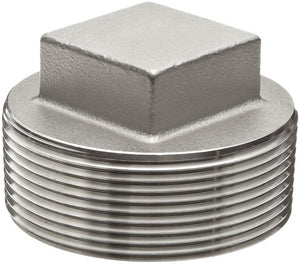 "2.500"" (2-1/2"") 150# Plug Square Head 304 Stainless Steel"