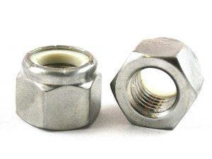 ".875"" (7/8"") Nylon-Stop Locknut 18-8 (304) Stainless Steel"