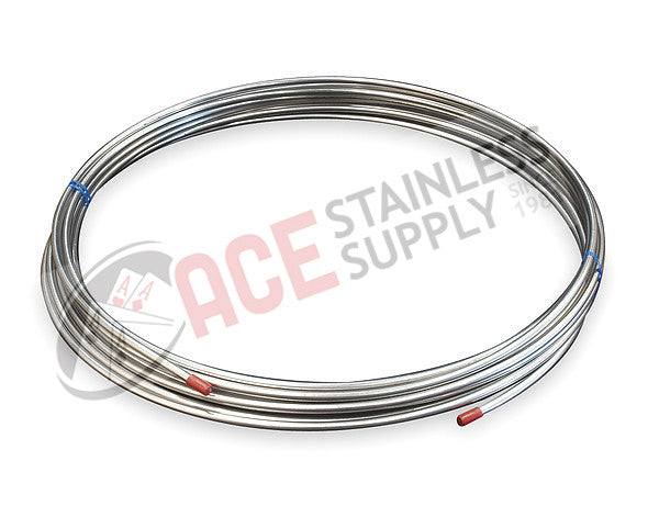 ".375"" (3/8"") OD x 0.035"" Seamless Tube 304L Stainless Steel x 20' Coil - Ace Stainless Supply"