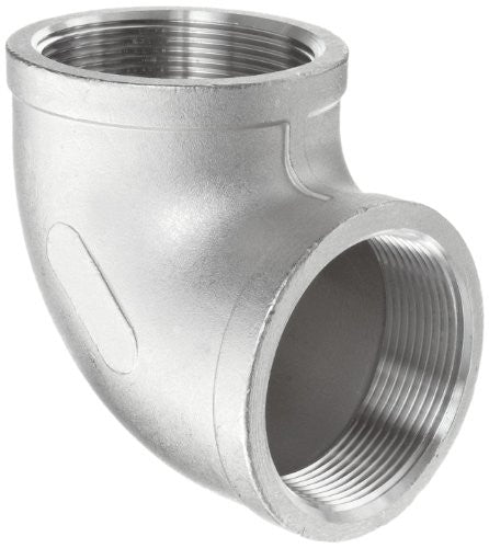".125"" (1/8"") 150# 90° Elbow 304 Stainless Steel"