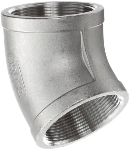 "2.500"" (2-1/2"") 150# 45° Elbow 316 Stainless Steel"