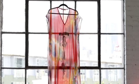 Multi colored sheer coverup dress