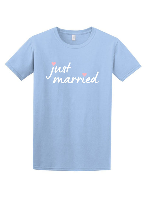 Just Married Women's T Shirt-Article & Thread Boutique
