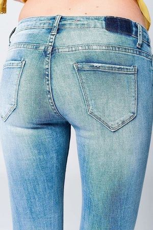 Acid Wash Distressed Jeans-Article & Thread Boutique