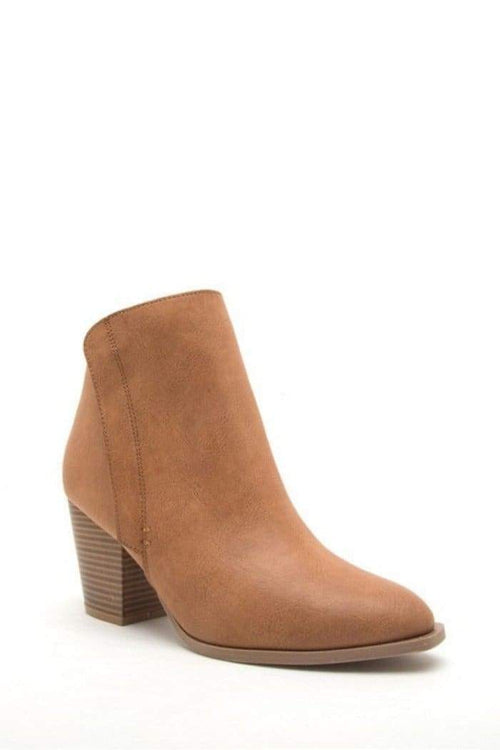 Almond Toe Chunk Heel Booties-Article & Thread Boutique