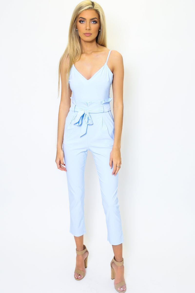 Baby Blue Paper Bag Jumpsuit-Article & Thread Boutique