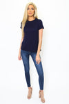 Basic Navy Relaxed Tee-Article & Thread Boutique