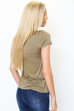 Basic Olive Relaxed Tee-Article & Thread Boutique