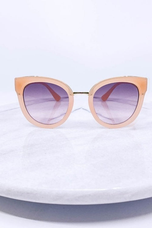 Beige Cat Eye Sunglasses-Article & Thread Boutique