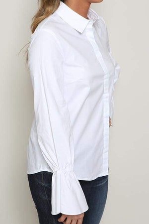 Bell Sleeve Button Down Top-Article & Thread Boutique