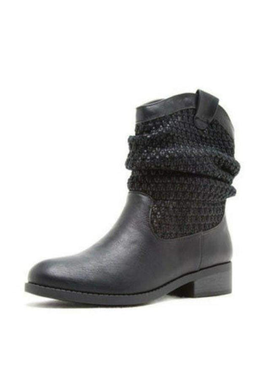 Black Leather Boots-Article & Thread Boutique