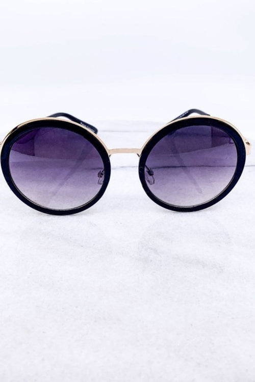 Black Round Frame Sunglasses-Article & Thread Boutique