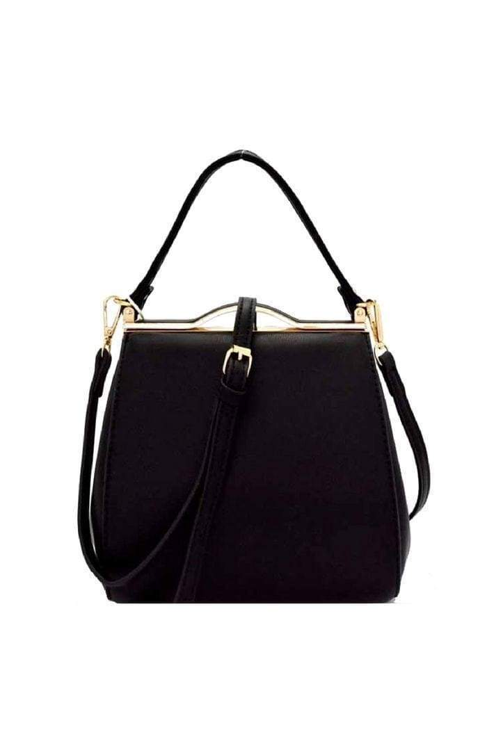 Black Structured Tote Bag-Article & Thread Boutique