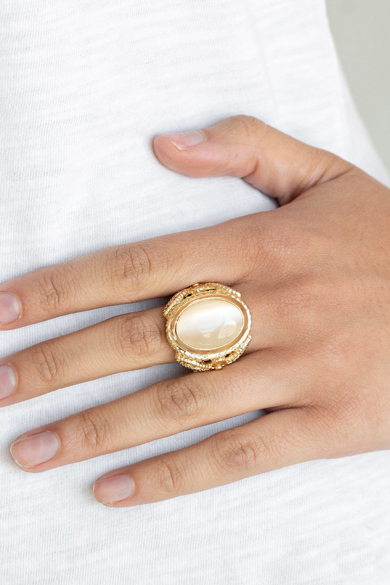 Cat's Eye Stone Stretch Ring-Article & Thread Boutique