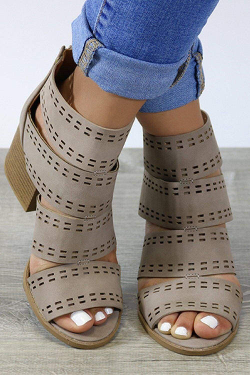 Cut Out Caged Chunk Sandal-Article & Thread Boutique