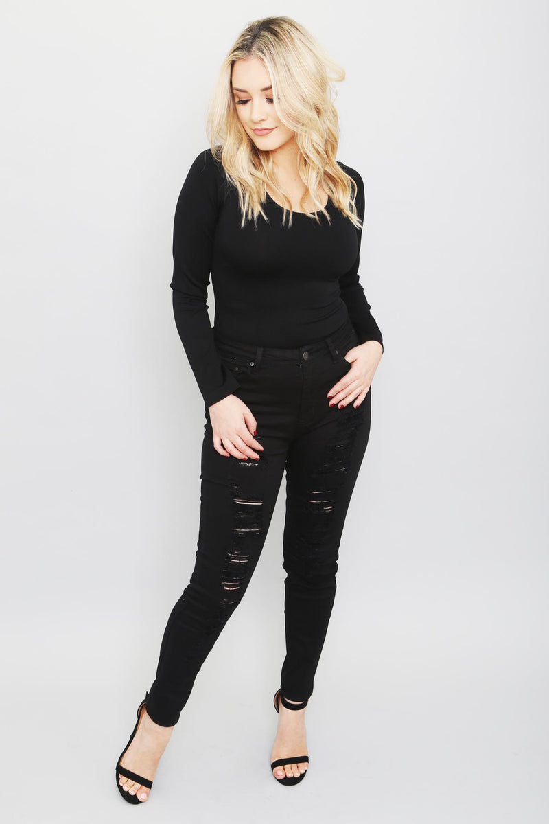 Destroyed Skinny Jeans-Article & Thread Boutique