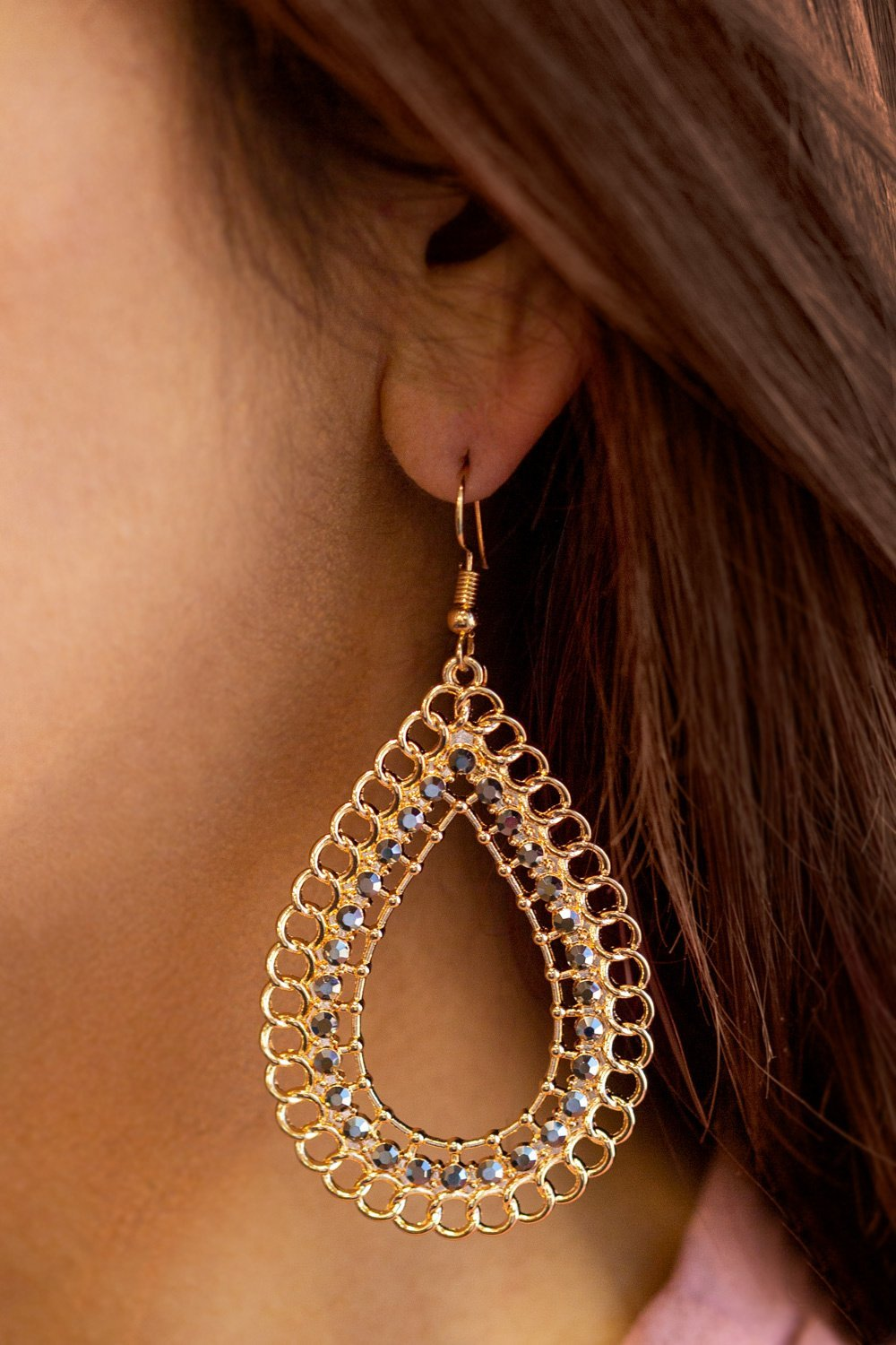 Detailed Teardrop Earrings-Article & Thread Boutique