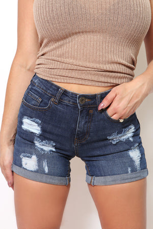 Distressed Denim Shorts-Article & Thread Boutique