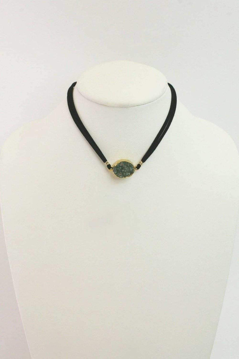 Druzy Stone Wrap Necklace-Article & Thread Boutique